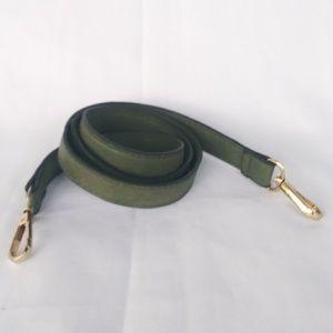 Olive green crossbody strap
